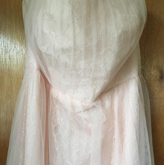 White by Vera Wang Blush Lace & Tulle Feminine Bridesmaid/Mob Dress Size 10 (M) Image 3