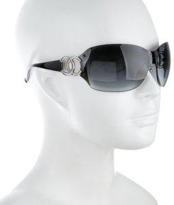 Chanel large CC logo accents rimless dark blue two tones
