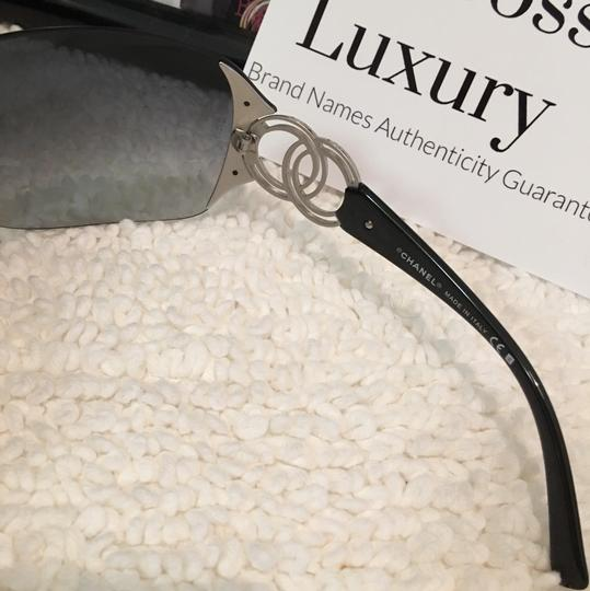 Chanel large CC logo accents rimless dark blue two tones Image 6