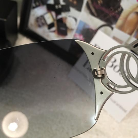 Chanel large CC logo accents rimless dark blue two tones Image 8