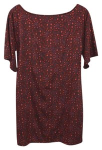 Alice + Olivia Print Fall Winter Designer Silk Dress