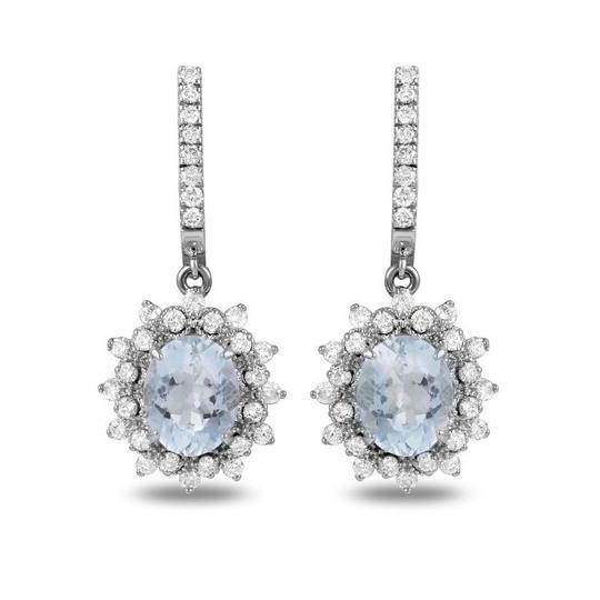 Preload https://img-static.tradesy.com/item/24014501/white-gold-960ct-natural-aquamarine-and-diamond-14k-solid-earrings-0-0-540-540.jpg