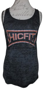 Next Level Apparel Fitness Hic Fit Cross Training Sports Top Charcoal Gray, Orange