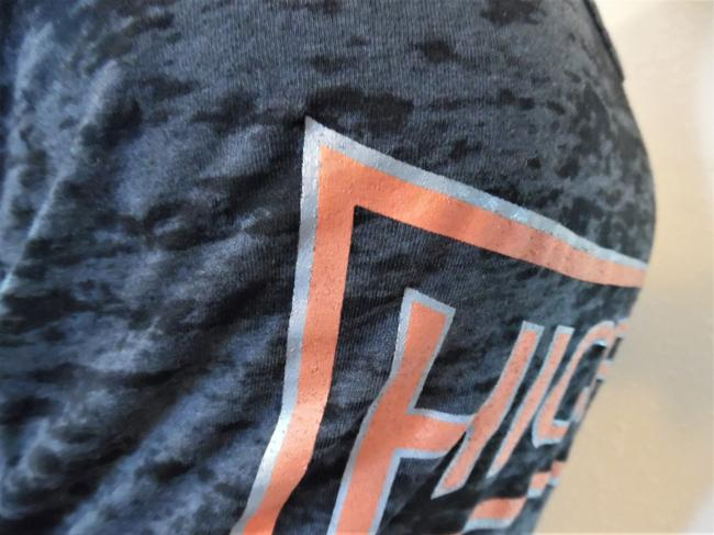 Next Level Apparel Fitness Hic Fit Cross Training Sports Top Charcoal Gray, Orange Image 2