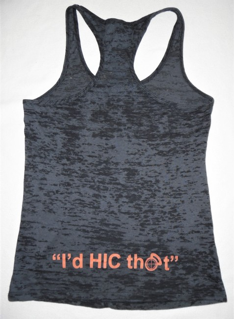Next Level Apparel Fitness Hic Fit Cross Training Sports Top Charcoal Gray, Orange Image 4