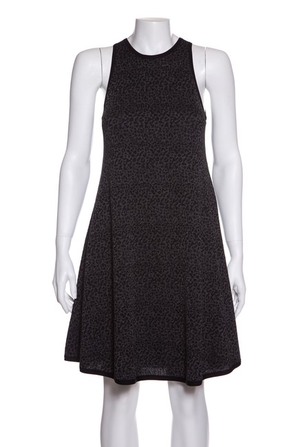Preload https://img-static.tradesy.com/item/24014523/saint-laurent-black-and-grey-animal-pattern-knit-short-casual-dress-size-4-s-0-0-650-650.jpg