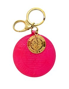 Louis Vuitton Rose Pop Pink Vernis Patent Leather Trunk & Coin Key Chain/Bag Charm