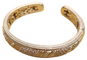 Judith Ripka Judith Ripka sterling silver cuff bracelet with cubic zirconia accents