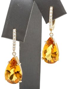Other 5.30CTW Natural Citrine & Diamond in 14K Yellow Gold Stud Earring