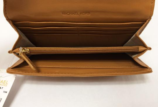 MICHAEL Michael Kors Michael by Michael kors Fulton Quilted Carryall Tan Leather Wallet Image 3