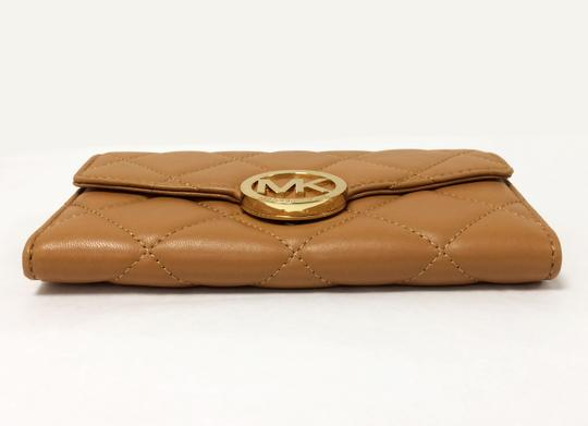 MICHAEL Michael Kors Michael by Michael kors Fulton Quilted Carryall Tan Leather Wallet Image 4