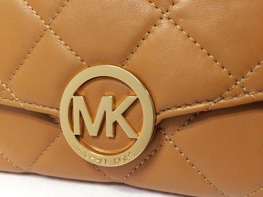 MICHAEL Michael Kors Michael by Michael kors Fulton Quilted Carryall Tan Leather Wallet Image 5