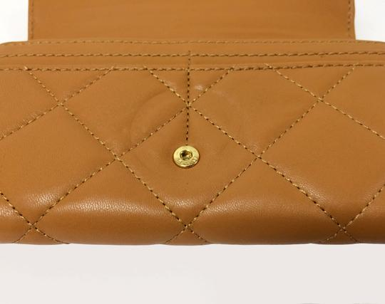 MICHAEL Michael Kors Michael by Michael kors Fulton Quilted Carryall Tan Leather Wallet Image 6