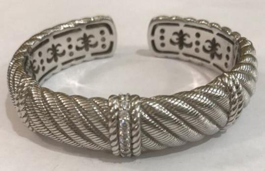 Judith Ripka Judith Ripka sterling silver cuff bracelet with cubic zirconia accents Image 2