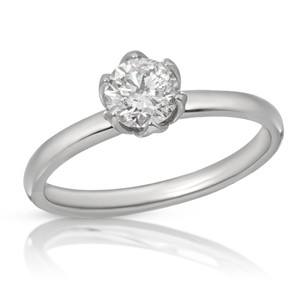 Neena 0.73ct Round Diamond Solitaire Engagement Ring with Certificate