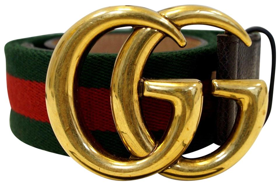 8e947ec3876 Gucci GUCCI Web Belt with Double G buckle 409416 Image 0 ...