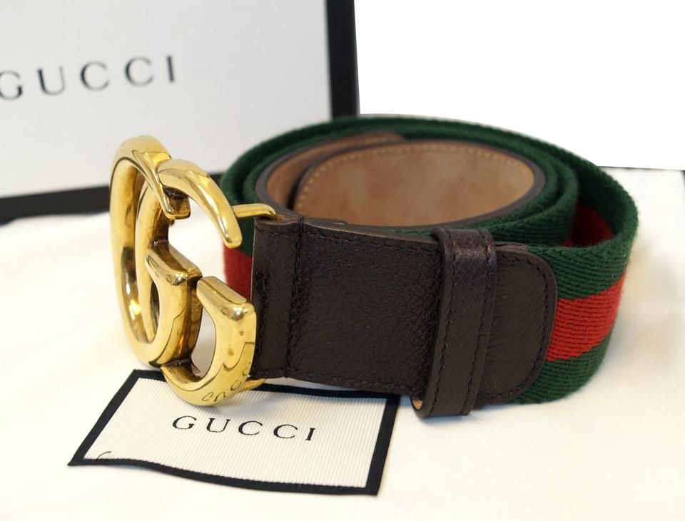 eceae955684 Gucci GUCCI Web Belt with Double G buckle 409416 Image 7. 12345678