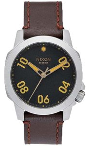 Nixon A471-019 Ranger Unisex Brown Leather Band With Black Analog Dial Watch
