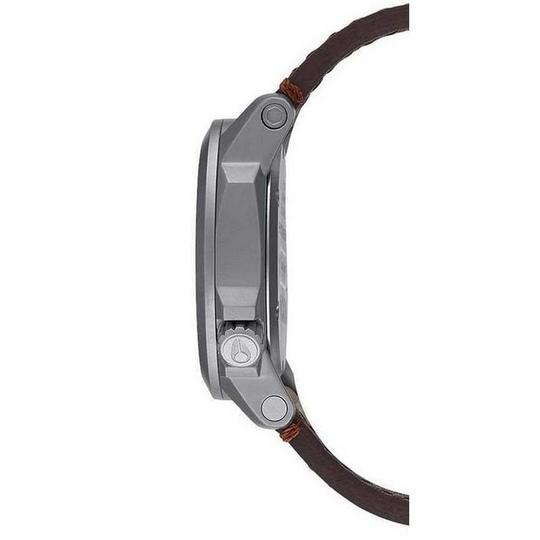Nixon A471-019 Ranger Unisex Brown Leather Band With Black Analog Dial Watch Image 1