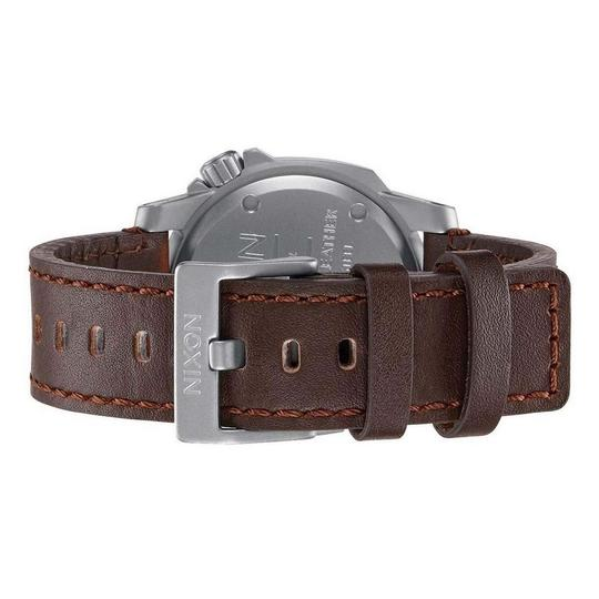 Nixon A471-019 Ranger Unisex Brown Leather Band With Black Analog Dial Watch Image 2