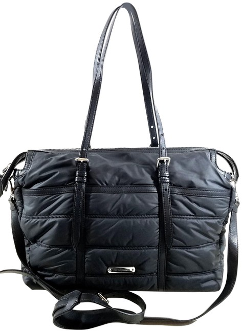 Item - Abbey Quilted Black Nylon Diaper Bag