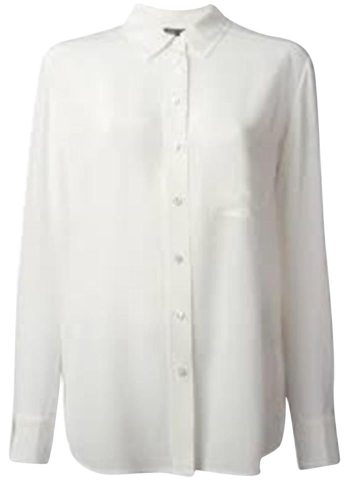 d5d204fb75bc57 Vince White New Off Sleeve Knit Back Xs Buttons Ope Blouse Size 2 ...