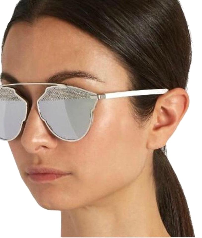 9eccc511ed4f Dior Silver  White So Real Studded Sunglasses - Tradesy