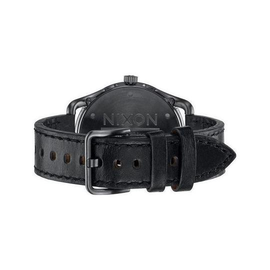 Nixon A465-2069 Mens Black Leather Band With Green Analog Dial Watch Image 1
