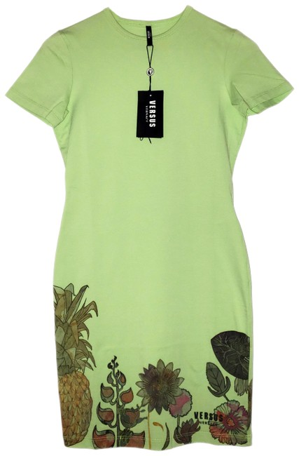 Preload https://img-static.tradesy.com/item/24014828/versus-versace-light-green-cotton-fitted-new-with-tags-small-short-casual-dress-size-4-s-0-1-650-650.jpg