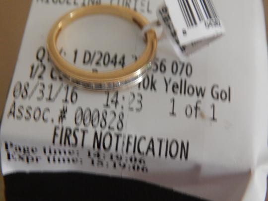 Other New 10k yellow gold 1/2 cttw round diamond size 7 band ring Image 5