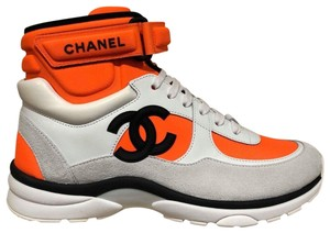 Chanel Trainer Sneaker Flat Logo High orange Athletic