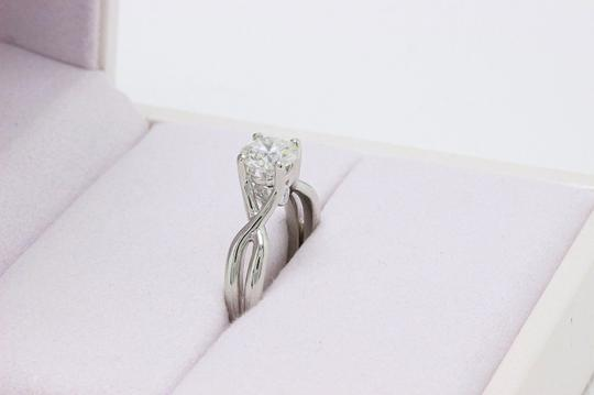 Hearts on Fire H Si1 Twist Round Brilliant Diamond Solitaire Band 1.23 Tcw Engagement Ring Image 6