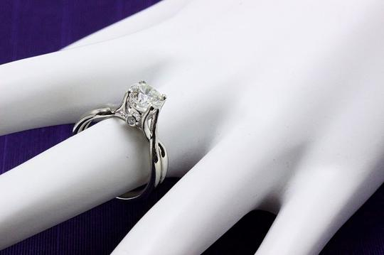 Hearts on Fire H Si1 Twist Round Brilliant Diamond Solitaire Band 1.23 Tcw Engagement Ring Image 7
