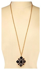 Olivia Welles OLIVIA WELLES LONG PAVE PENDANT STATEMENT NECKLACE