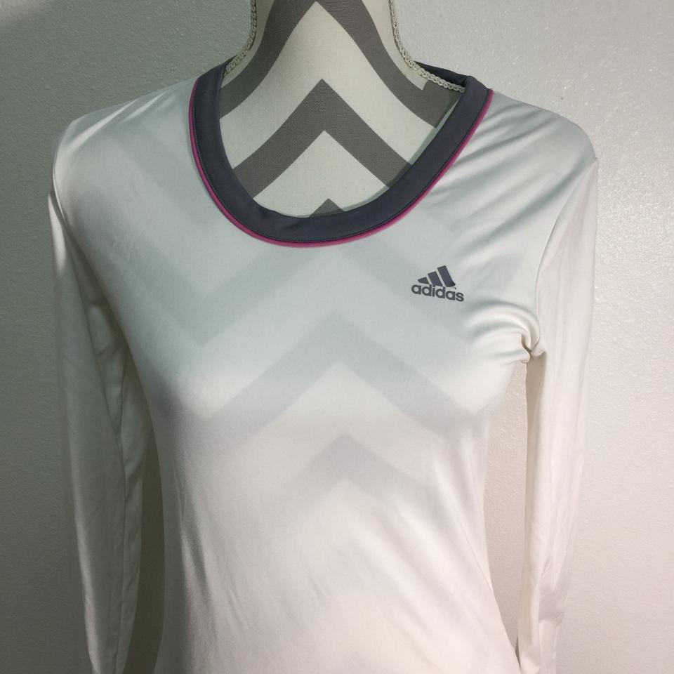 71f79e26 adidas White Dri Fit Activewear Top Size 4 (S) - Tradesy