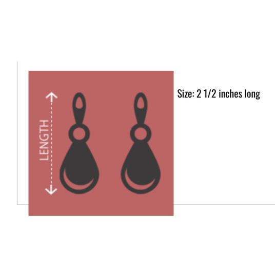 Fashion Three Tier Crystal Accent Drop Silver Earrings Image 1