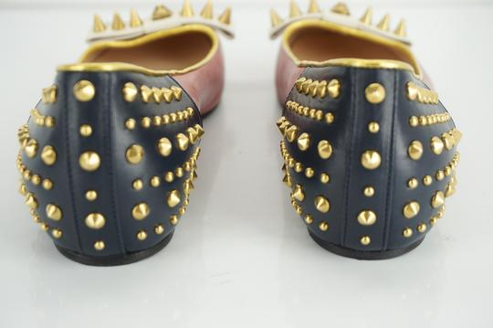 Gucci Spike Studded Gg Ballet Party Red Flats Image 9