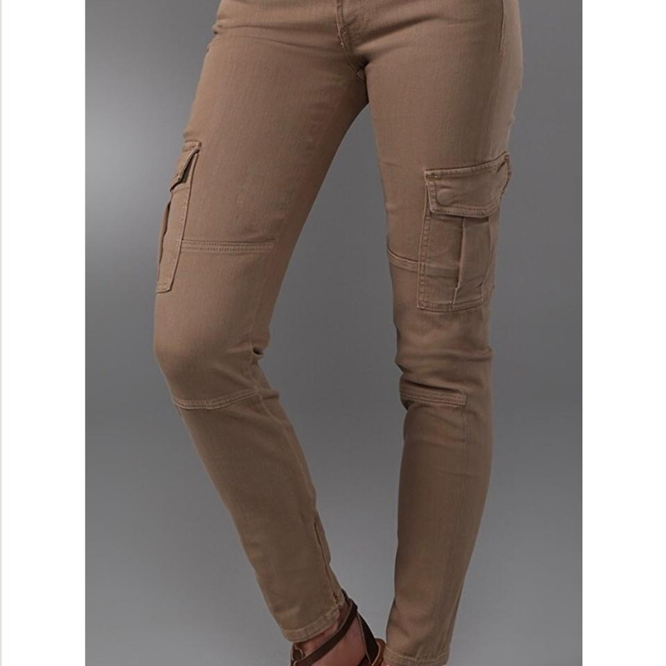 ada32761e58128 Vince Green Medium Wash Ankle Skinny Cargo Jeans Size 26 (2, XS ...