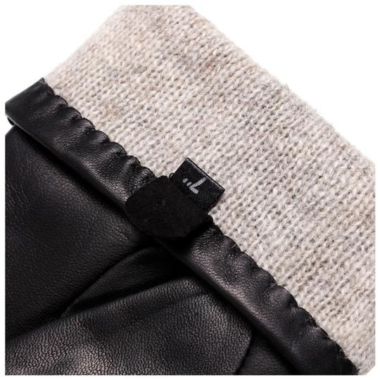 Boutique Collection Leather Stud Cashmere Lined Gloves Size 7 C16 Image 3