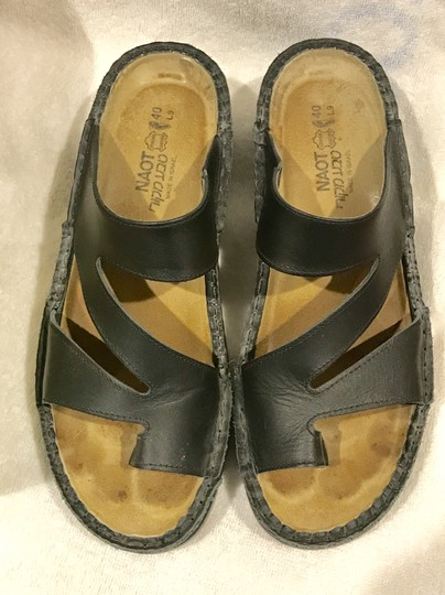 Naot Monterey Leather Size8.5 Black Sandals Image 11