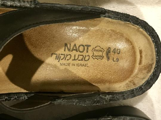 Naot Monterey Leather Size8.5 Black Sandals Image 6