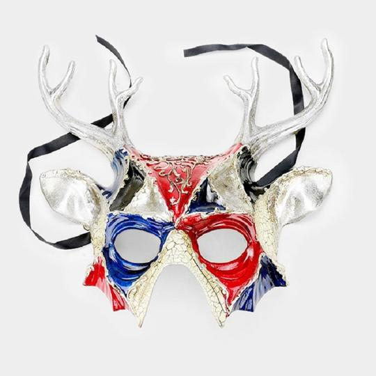 Other Halloween Devil Masquerade Half Mask Image 1