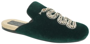Gucci Slipper Party Emerald Classic Logo Green Mules
