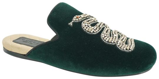 Gucci Slipper Party Emerald Classic Logo Green Mules Image 0