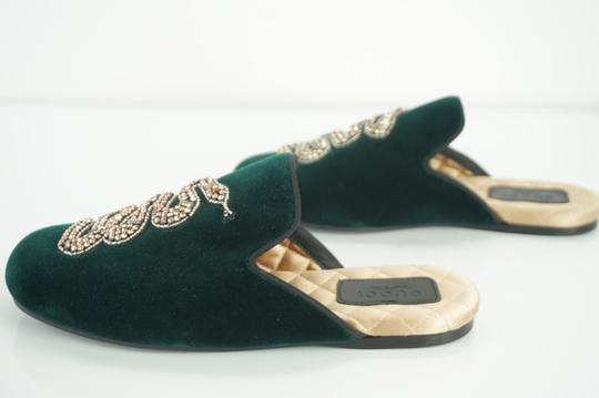 Gucci Slipper Party Emerald Classic Logo Green Mules Image 10