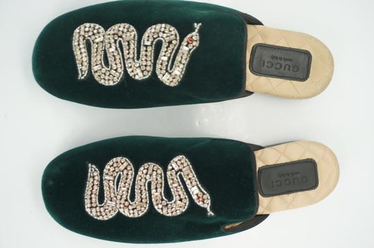 Gucci Slipper Party Emerald Classic Logo Green Mules Image 11