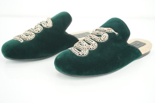 Gucci Slipper Party Emerald Classic Logo Green Mules Image 3