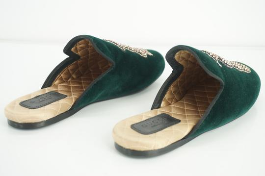 Gucci Slipper Party Emerald Classic Logo Green Mules Image 4