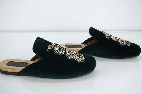 Gucci Slipper Party Emerald Classic Logo Green Mules Image 5
