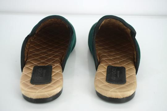 Gucci Slipper Party Emerald Classic Logo Green Mules Image 6